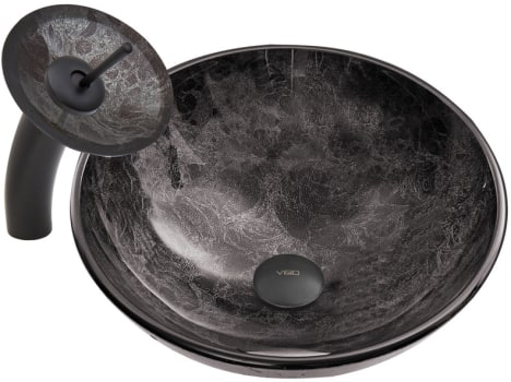 Vigo Industries Vessel Sink Collection VGT040 - Matte Black Combo