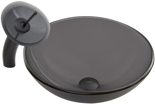 Vigo Industries Vessel Sink Collection VGT049 - Matte Black Combo