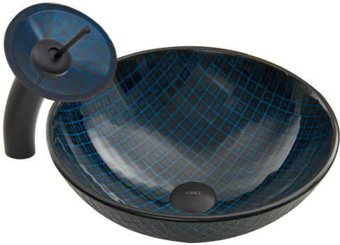 Vigo Industries Vessel Sink Collection VGT057 - Matte Black Combo