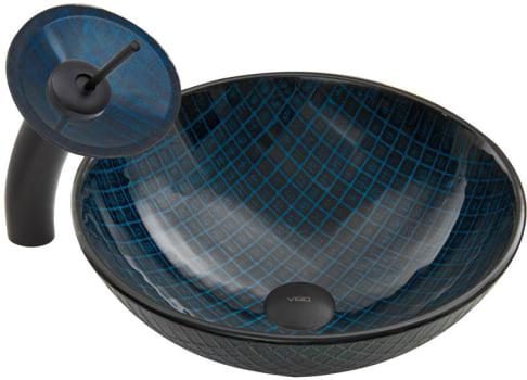 Vigo Industries Vessel Sink Collection VGT057MBRND - Matte Black Combo