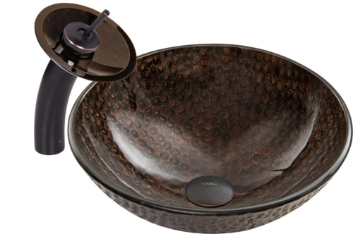 Vigo Industries Vessel Sink Collection VGT058ARBRND - Antique Rubbed Bronze Combo