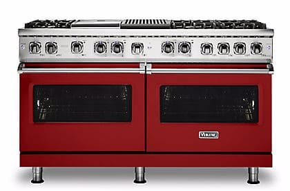 Viking Professional 5 Series VDR5606GQARLP - Apple Red Front View