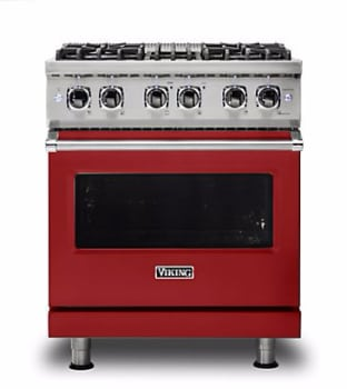 Viking Professional 5 Series VDR5304BARLP - Apple Red Front View