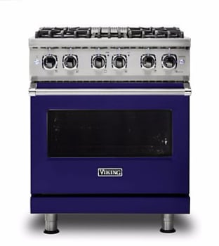 Viking Professional 5 Series VDR5304BCB - Cobalt Blue Front View