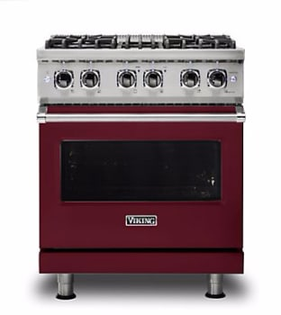 Viking Professional 5 Series VDR5304BBULP - Burgundy Front View