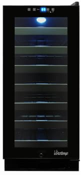 "Vinotemp VT32TSFE3A - 15"" Undercounter Wine Cooler with 33 Bottle Capacity"