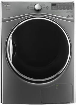 "Whirlpool WED92HEFU - Diamond Steel 27"" 7.4 cu. ft. Electric Dryer with Advanced Moisture Sensing"