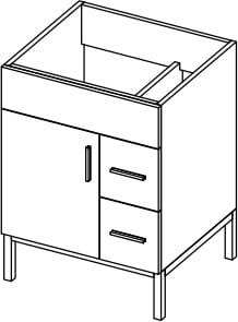 Empire Industries Daytona Collection WDS2412GGSL - Product Drawing