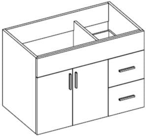 Empire Industries Daytona Collection WDS3622WGSL - Product Drawing