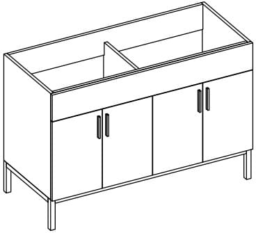 Empire Industries Daytona Collection WDS48402BWP - Product Drawing