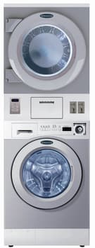 "Crossover WDSEXM - 27"" Stacked Front-Load Laundry Center with Coin Box"