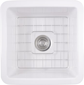 Nantucket Sinks WELLFLEET1818W 18 Inch Undermount Fireclay Kitchen ...