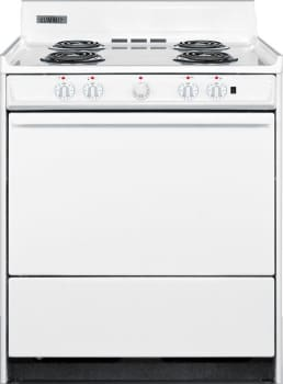 "Summit WEM2171Q - 30"" Electric Range with 4 Coil Elements"