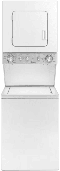 "Whirlpool WET4024EW - 24"" Electric Laundry Center with 1.5 cu. ft. Washer Capacity and 3.4 cu. ft. Dryer Capacity"