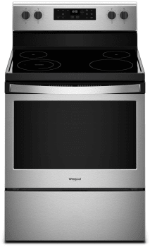 Whirlpool WFE505W0HS - Black on Stainless Front