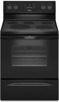 Whirlpool WFE530C0EB - Black Front View