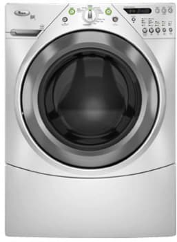 Whirlpool Duet Steam WFW9600TW - Silver Metallic on White