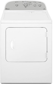 Whirlpool WED4985EW - Whirlpool 5.9 cu. ft. Top Load Electric Dryer with Flat Back Design