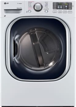 LG SteamDryer Series DLEX4270W - White Front View