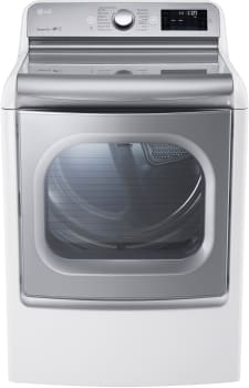 LG SteamDryer Series DLEX7700WE - White Dryer with EasyLoad Door from LG