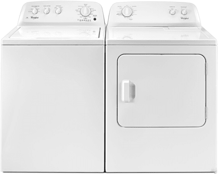 Whirlpool Wpwadrew246 Side By Washer Dryer Set With Top Load And Electric In White