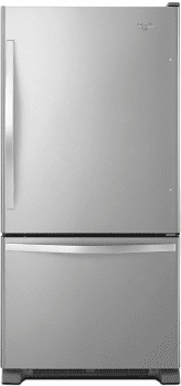 Whirlpool WRB322DMBM - 33 Inch Bottom-Freezer Refrigerator in Stainless Steel with 21.9 cu. ft. Capacity