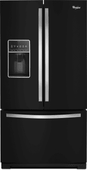 Whirlpool WRF757SDEE - Black Front View