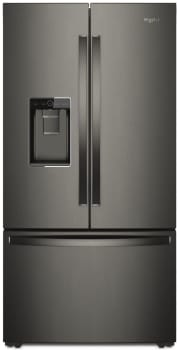 Whirlpool WRF954CIHV - Black Stainless Steel Front View