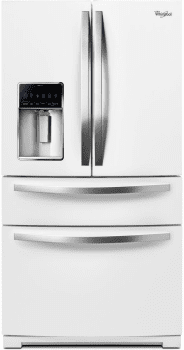 Whirlpool WRX735SDBH - White Ice Front View