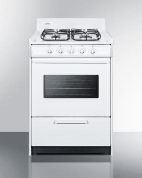 Summit WTM6107SW - Slim 24 Inch Freestanding Gas Range from SUMMIT