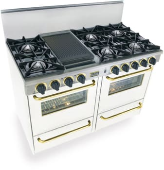 FiveStar WTN5107SW - White with Brass Trim