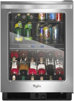 "Whirlpool WUB50X24EM - 24"" Undercounter Beverage Center with Dual-Temperature Controlled Zones"