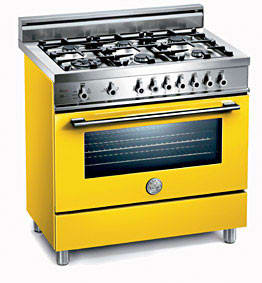 Bertazzoni Professional Series X365PIRGI - Giallo / Yellow of 6 Burners Model (Not Exact Image)