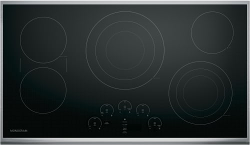 "Monogram ZEU36RSJSS - 36"" GE Monogram Touch Control Electric Cooktop"