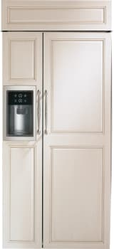 "Monogram ZISB360DK - Monogram 36"" Built-In Side-by-Side Refrigerator, Custom Door Ready"