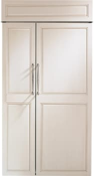 "Monogram ZIS420NK - Monogram 42"" Built-In Side-by-Side Refrigerator, Custom Door Ready"
