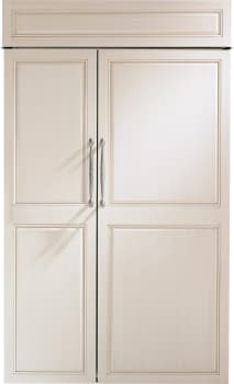 "Monogram ZIS480NK - Monogram 48"" Built-In Side-by-Side Refrigerator, Custom Door Ready"