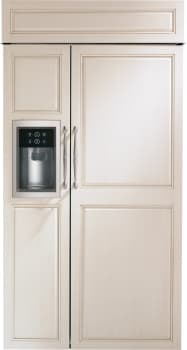 "Monogram ZISB420DK - Monogram 42"" Built-In Side-by-Side Refrigerator with Dispenser"