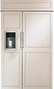 "Monogram ZISB480DK - Monogram 48"" Built-In Side-by-Side Refrigerator with Dispenser"