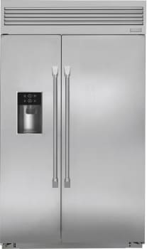 "Monogram ZISP480DKSS - Monogram 48"" Built-In Professional Side-by-Side Refrigerator with Dispenser"