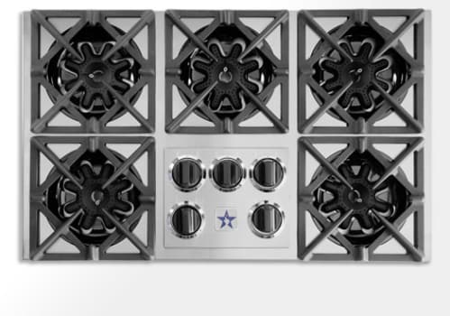 Bluestar Rbct365bss 36 Inch Pro Style Gas Cooktop With 5