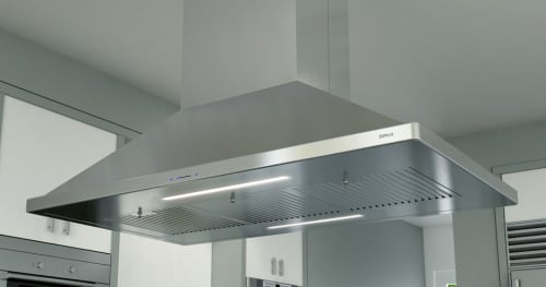 Zephyr Essentials Europa ZSLE42BS - 42 Inch Island Mount Chimney Range Hood