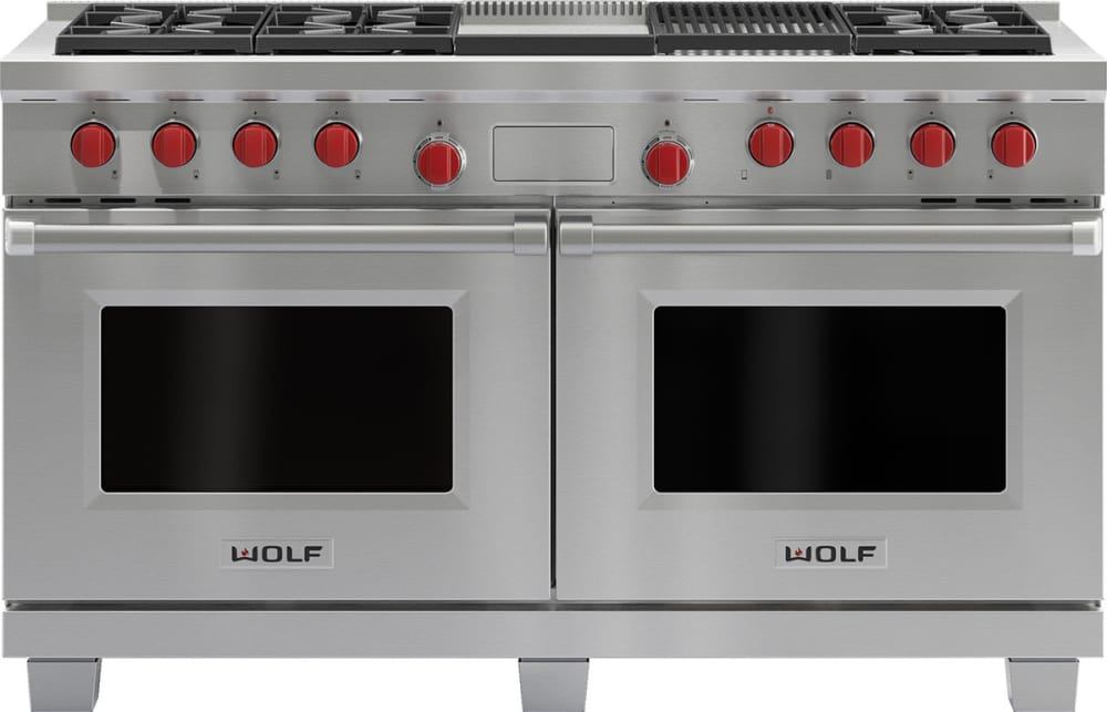 Wolf DF606CGLP 60 Inch Pro-Style Dual-Fuel Range with 6 Dual ...