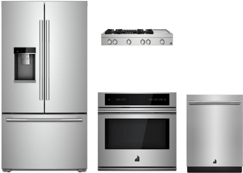 Jennair Jarectwodw1 4 Piece Kitchen Appliances Package With French Door Refrigerator And Dishwasher In Stainless Steel