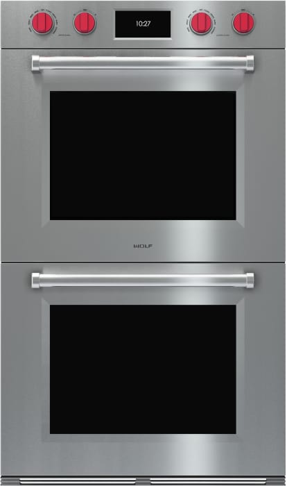 Wolf Do30pmsph 30 Inch Double Electric Wall Oven With 5 1 Cu Ft Dual Verticross Convection Ovens 10 Cooking Modes Self Clean Gourmet Mode Temperature Probe And Star K Certified Sabbath Mode Professional