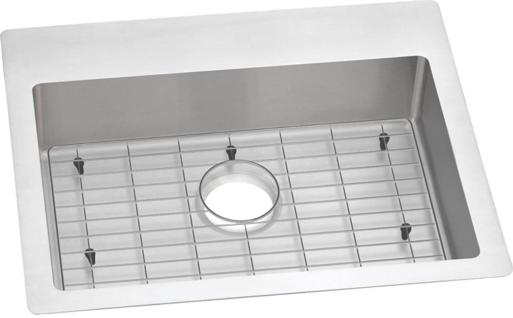 Elkay Ectsrad25226tbg0 25 Inch Single Bowl Dual Mount Ada Kitchen Sink Kit With 18 Gauge Stainless Steel Sound Dampening And Slim Rim No Holes