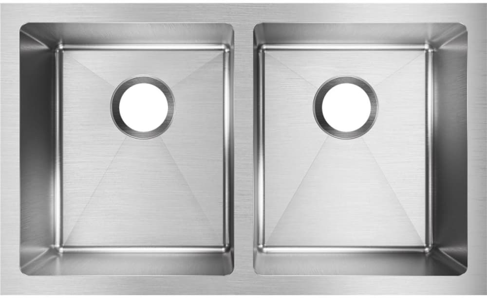 Elkay Efru311810t 30 Inch Double Bowl Undermount Kitchen Sink With 16 Gauge Stainless Steel Sound Dampening And Large Capacity 10 In Bowl Depth