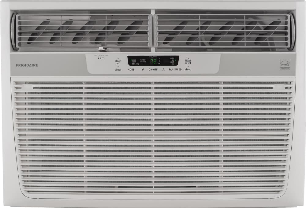 Frigidaire Ffre2233s2 22 000 Btu Energy Star Window Wall Air Conditioner With Digital Controls Remote Control 1 300 Sq Ft Cooling Area Ready Select Controls 24 Hour On Off Timer Energy Mode And Clean Filter Alert
