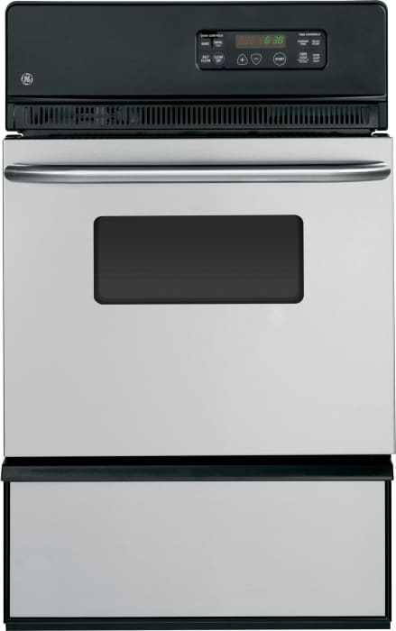 Ge Jgrp20senss 24 Inch Single Gas Wall Oven With 2 8 Cu Ft Interior Oven Light Smartset Controls And Storage Drawer Stainless Steel