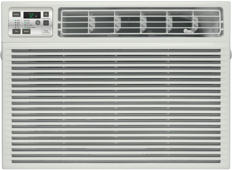 Ge Aee08at 8 000 Btu Room Air Conditioner With 3 800 Heating Btu 270 Cfm 11 0 Eer 1 3 Pts Hr Dehumidification Capacity Electronic Digital Thermostat With Remote And Energy Saver Feature